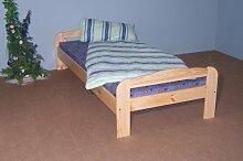 V. Jause e. K. Einzelbett Bett Gästebett Futonliege 90x200 massiv natur lackiert Kinderbe