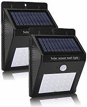V-Shopkeeper 20 LED Solarleuchten im Freien,