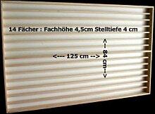 V85 Vitrine Spur N & Z Setzkasten Regal 14 Fächer