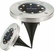 Vaceky Solar Power Disk Lights 8 LED Buried Light