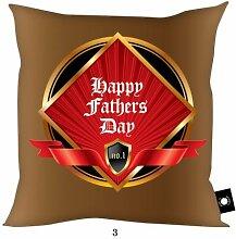 Väter Tag Geschenk Bronze & Rot No1Dad Happy Fathers Day Design, hergestellt in Yorkshire tolle Geschenkidee für Dad