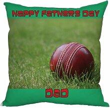 Väter Tag Geschenk Cricket Ball Design, hergestellt in Yorkshire tolle Geschenkidee für Dad Cricketspieler