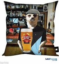 Väter Tag Geschenk Erdmännchen Pint Bier Design, hergestellt in Yorkshire tolle Geschenkidee für Dad