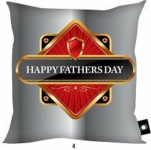 Väter Tag Geschenk Grau & Rot No1Dad Happy Fathers Day Design, hergestellt in Yorkshire tolle Geschenkidee für Dad