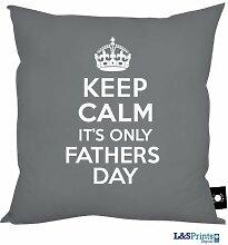 Väter Tag Geschenk Keep Calm Its nur Väter Tag Design grau, hergestellt in Yorkshire tolle Geschenkidee für Dad
