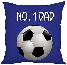 Väter Tag Geschenk Number 1Dad Fußball Design Royal Blau, hergestellt in Yorkshire tolle Geschenkidee für Dad