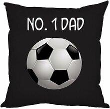 Väter Tag Geschenk Number 1Dad Fußball-Design schwarz, hergestellt in Yorkshire tolle Geschenkidee für Dad