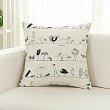 Vaevanhome Leinen Cartoon Sofa Kissen Kissen