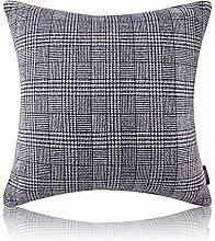 Vaevanhome Sofa Bett Kissen Grau Leinen Gestrickt