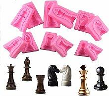 VAK 12/lot International Chess Kuchen Silikon Form
