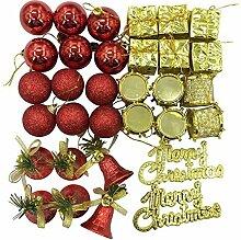 VAK 32/lot Gold/Blau Merry Christmas