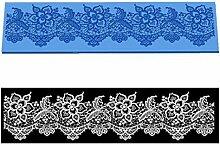 VAK Blumen Muster Spitze Form Kuchen Matte Silikon