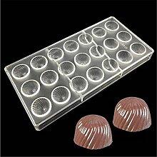 VAK Spirale Form 21Zellen Schokolade Formen,