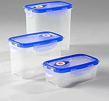 Vakuum Frischhaltedosen Set, rechteckig, 3-teilig