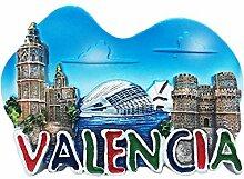 Valencia Spanien 3D Kühlschrankmagnet Reise
