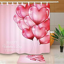Valentine 's Day Duschvorhang Herzform Ballon