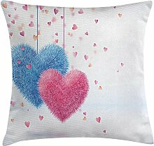 Valentines Day Throw Pillow, Flauschige
