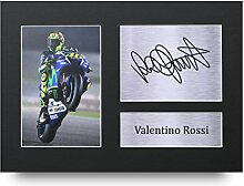 Valentino Rossi Signiertes A4gedrucktem Autogramm Superbike Print Foto Bild Präsentation Display–tolle Geschenkidee