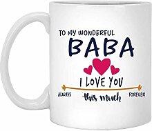 Valentinstag Becher Geschenke für Papa, Mama,