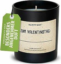 Valentinstag Duftkerze im Glas mit Spruch aus Soja