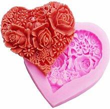 Valentinstag Herz geformte Rosen Seifenform