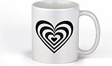 Valentinstag-Kaffeetasse mit Herz-Motiv,