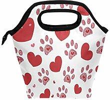 Valentinstag Lunchbox mit Herz- und