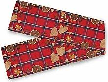 Valentinstag Tischläufer Lebkuchenmann Holz