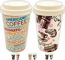 Valere + Coffee to go Bambus-Becher Set 1+1