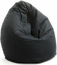 VALERIAN Sitzsack Baumwolle, schwarz uni CA. 150 LITER