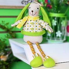 Valery Madelyn Sanfter Frühling Ostern Hase Baumwolle Ostern deko ca. 41cm Tischdeko Gartendeko