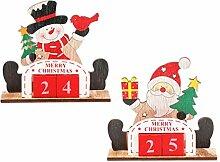 VALICLUD 2 Stück Weihnachts Adventskalender
