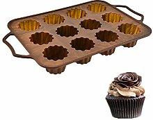 Valink 12 Löcher Cupcake Silikon Backform Muffin