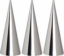 valink 3PCS/LOT Kleine Größe Edelstahl Konische Tüllen Tube Konus Werkzeug DIY Backen Form creme Gebäck Rolle Horn Form Backen Modellierung Werkzeuge–12,3x 3,5cm