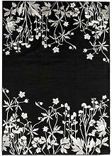 Vallila Keto Shiny Teppich 160x230 cm, schwarz