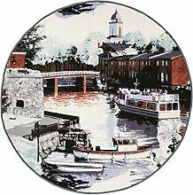 Vallila Suomenlinna Teppich Polyamid Aqua 100 x