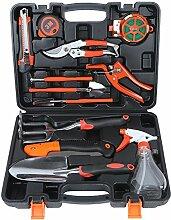 ValueHall Gartengeräte 12 Stück Garten Werkzeug Set von Gartengeräte set,Garten Gartenarbeit Gartengeräte mit Gartenschere Schaufel Harke Bandmaß etc,V7004-1