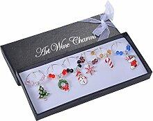 Valyria Weihnachten Weinglas Marker Perlen Charms
