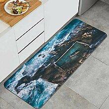 VAMIX Küchenteppich,Luftbild am frühen Morgen