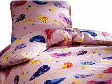 Vamos 56748und Dekoration–Bettbezug + Kissenbezug–Rosa–100% Baumwolle–140x 200cm