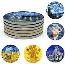 Van Gogh Art Untersetzer-Set, saugfähige