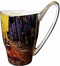 Van Gogh Keramikbecher mit einzigartigem Griff