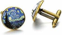 Van Gogh Manschettenknöpfe, Motiv: Sternennacht,