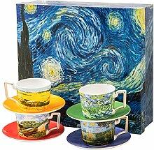 Van Gogh Tee-Set, Set mit 4 Gläsern mit