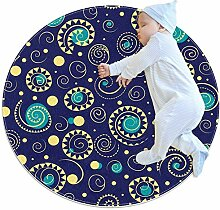 Van Gogh Teppich mit Sternenmuster, rund, für