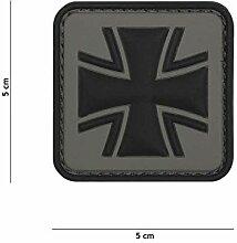 VAN OS Emblem 3D PVC Eisernes Kreuz grau #2072