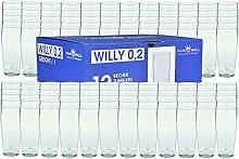 Van Well 120er Set Bierglas Willibecher 0,2L geeich
