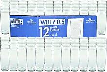 Van Well 120er Set Bierglas Willibecher 0,5l geeich