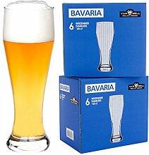 Van Well 12er Set Bavaria Weizenbiergläser klar |