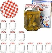 Van Well 12er Set Einkochgläser 720 ml Sturzglas
